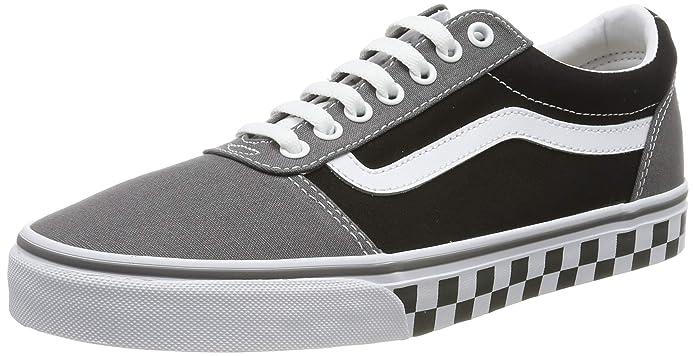 Vans Ward Sneakers Canvas Herren Grau Schwarz Weiß m. kariertem Wetterschutzrand