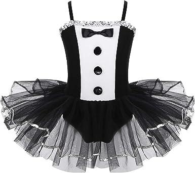 iiniim Vestido de Danza Estilo Esmoquin Niña Tutu Ballet ...