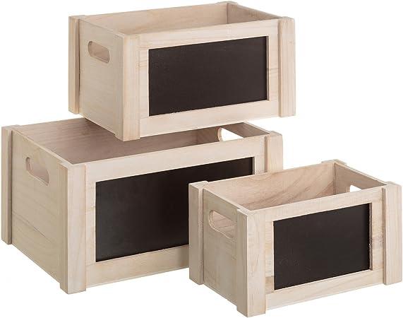 Lola Derek - Cajas de pizarra románticas blancas de madera para dormitorio Vitta: Amazon.es: Hogar