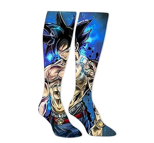 Cómodo Tatuaje Goku Saiyan Calcetines Largos Calcetines De