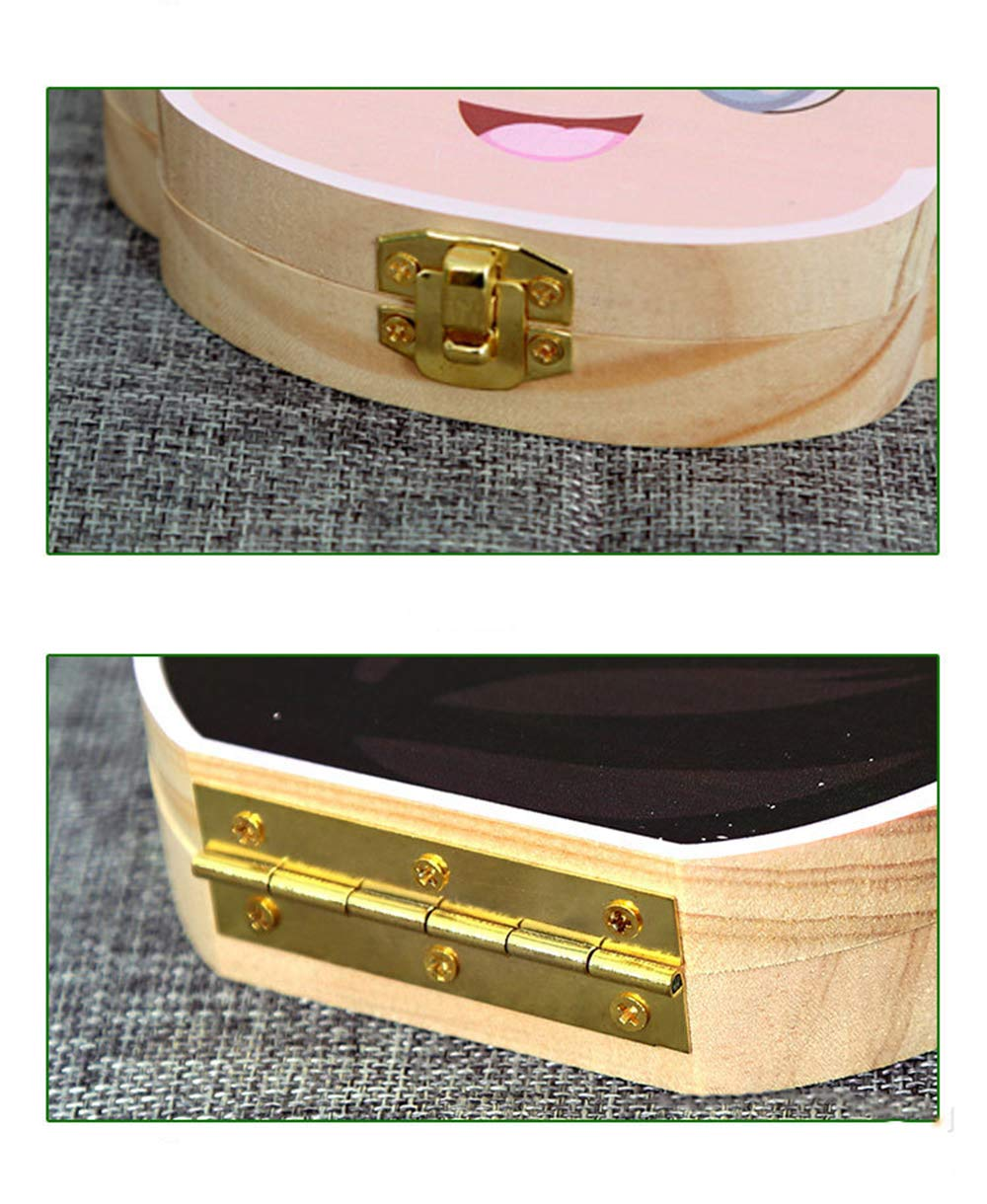 Das M/ädchen Milchzahnbox//Nabelschnur//Lanugo Aufbewahrungsboxen Geschenk Sets f/ür Babys Jungen M/ädchen Souvenir Box JUNSHUO Milchzahndose Milchz/ähne Box aus Holz Kinder
