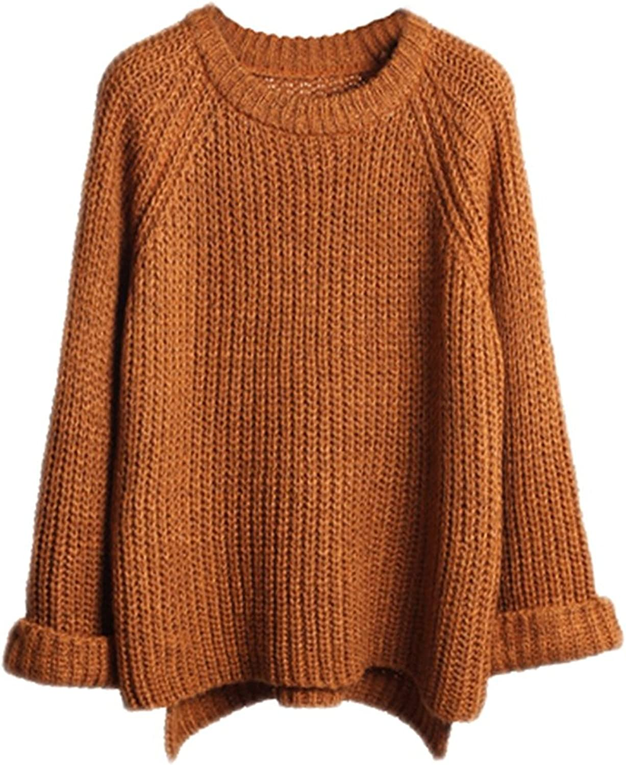 Lisli Women's Batwing Sleeve Loose Oversized Pullover Knitted Sweater