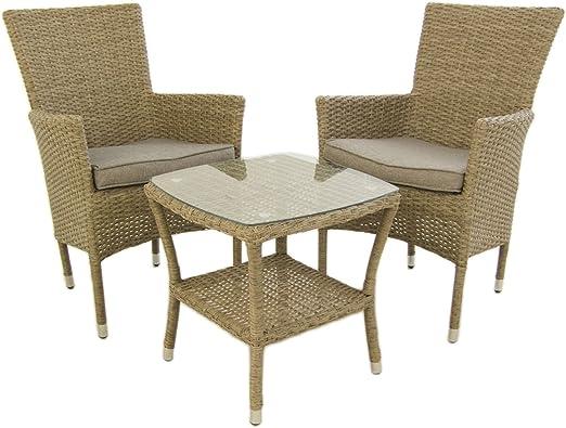 Conjunto Muebles jardín, 2 sillones apilables y 1 Mesa Auxiliar, 2 ...