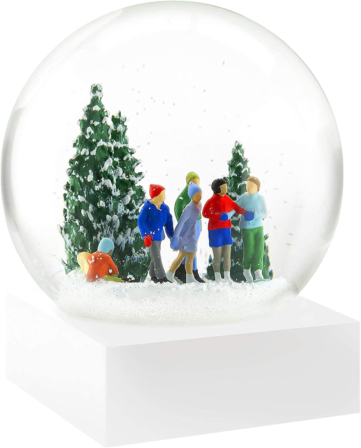 CoolSnowGlobes Ice Skaters Snow Globe