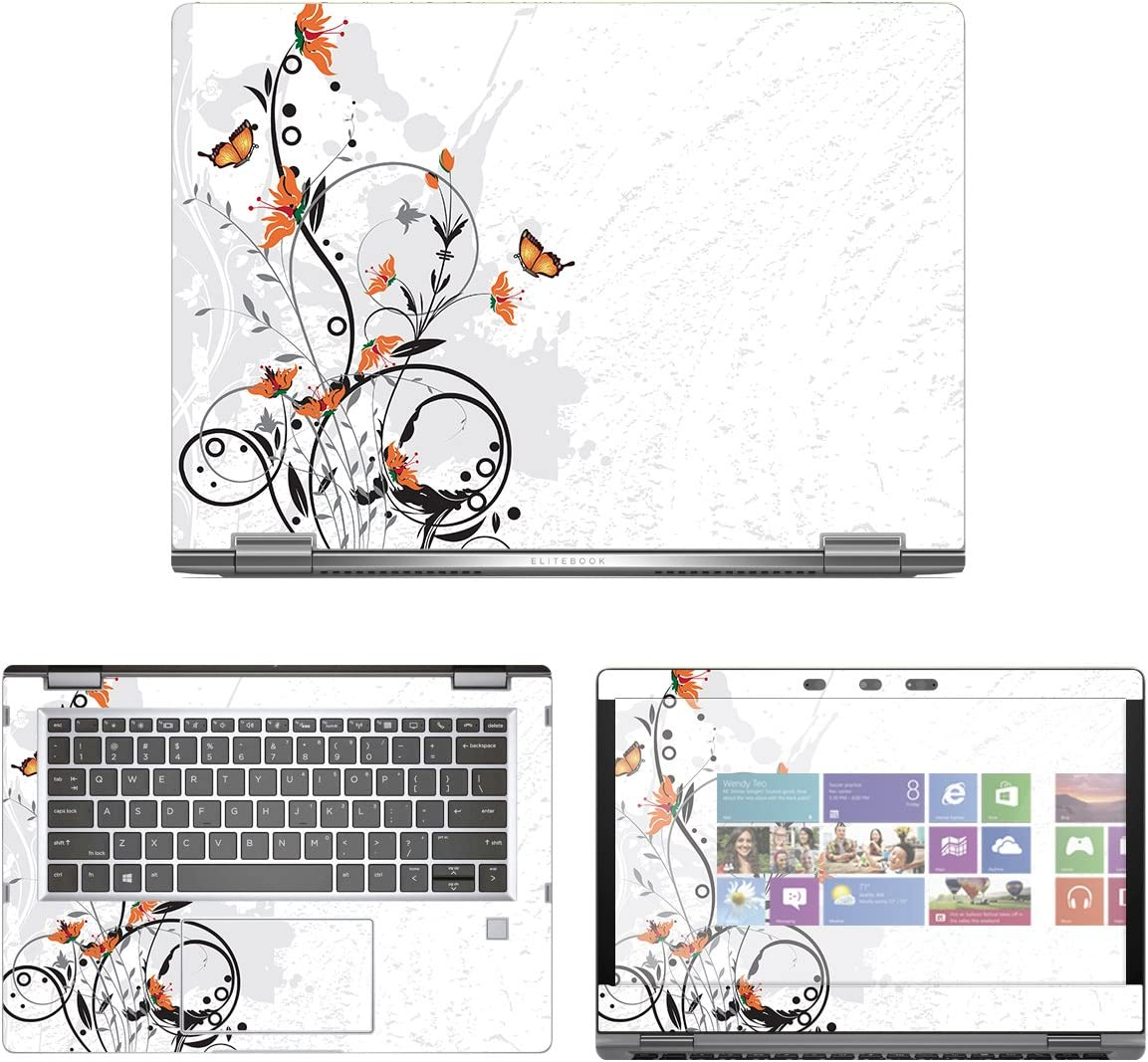 "decalrus - Protective Decal Skin Sticker for HP EliteBook X360 1030 G2 (13.3"" Screen) case Cover wrap HPelitebk1030g2-184"