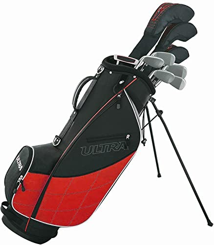 Wilson Golf Ultra Men s 9-Club Set w Bag and Covers, Black Red