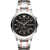 Emporio Armani Mens Quartz Watch, Chronograph Display and Stainless Steel Strap AR11165