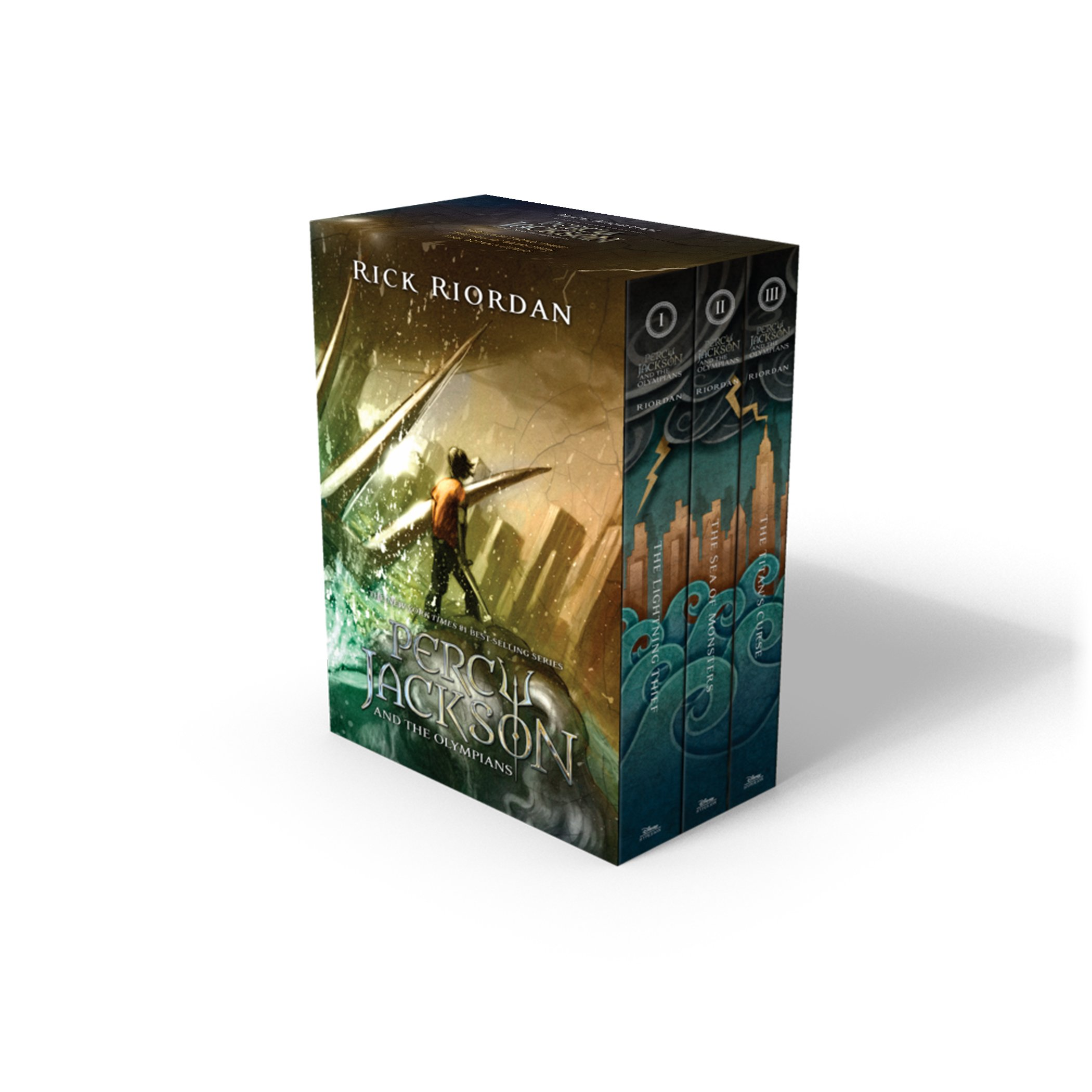 Percy Jackson and the Olympians 3 Book Paperback Boxed Set with new covers (Percy Jackson & the Olympians)