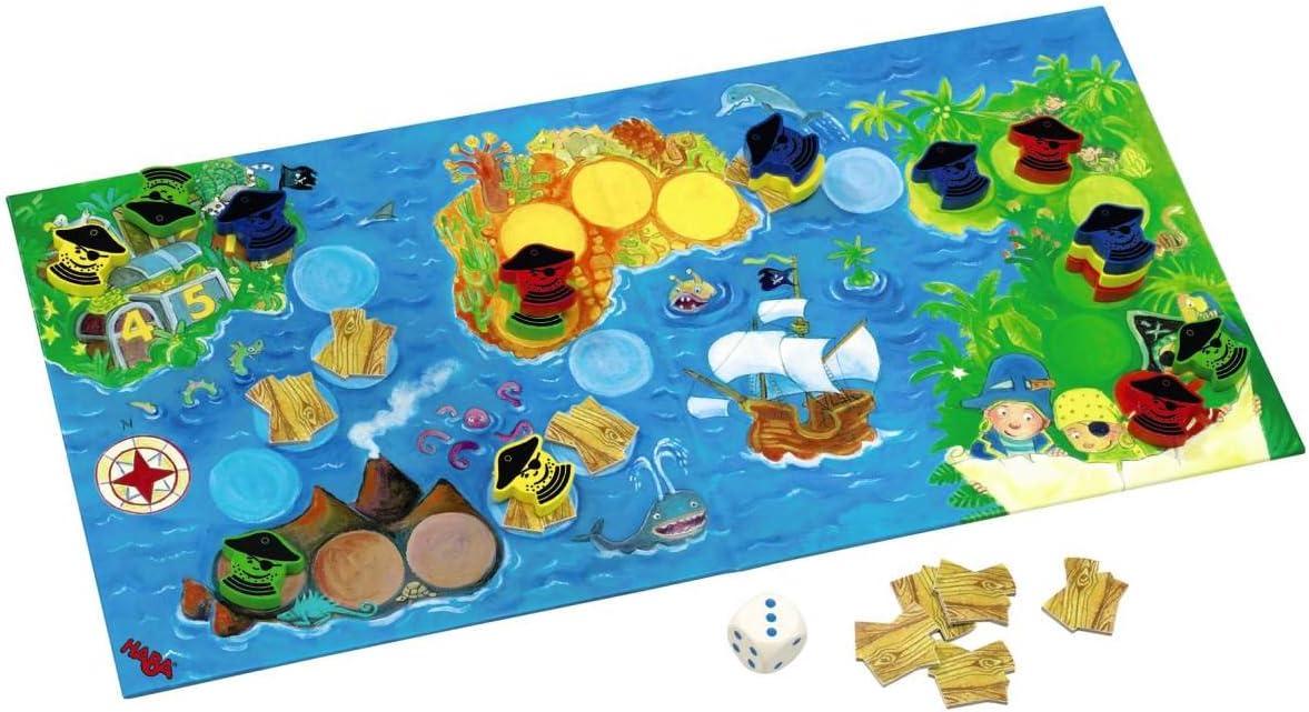 HABA 4538 - Juego de Mesa Aventura Pirata: Amazon.es: Juguetes y juegos