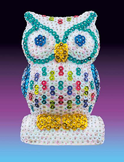 Sequin Art 3D Owl Sparkling Arts And Crafts Kit Creative