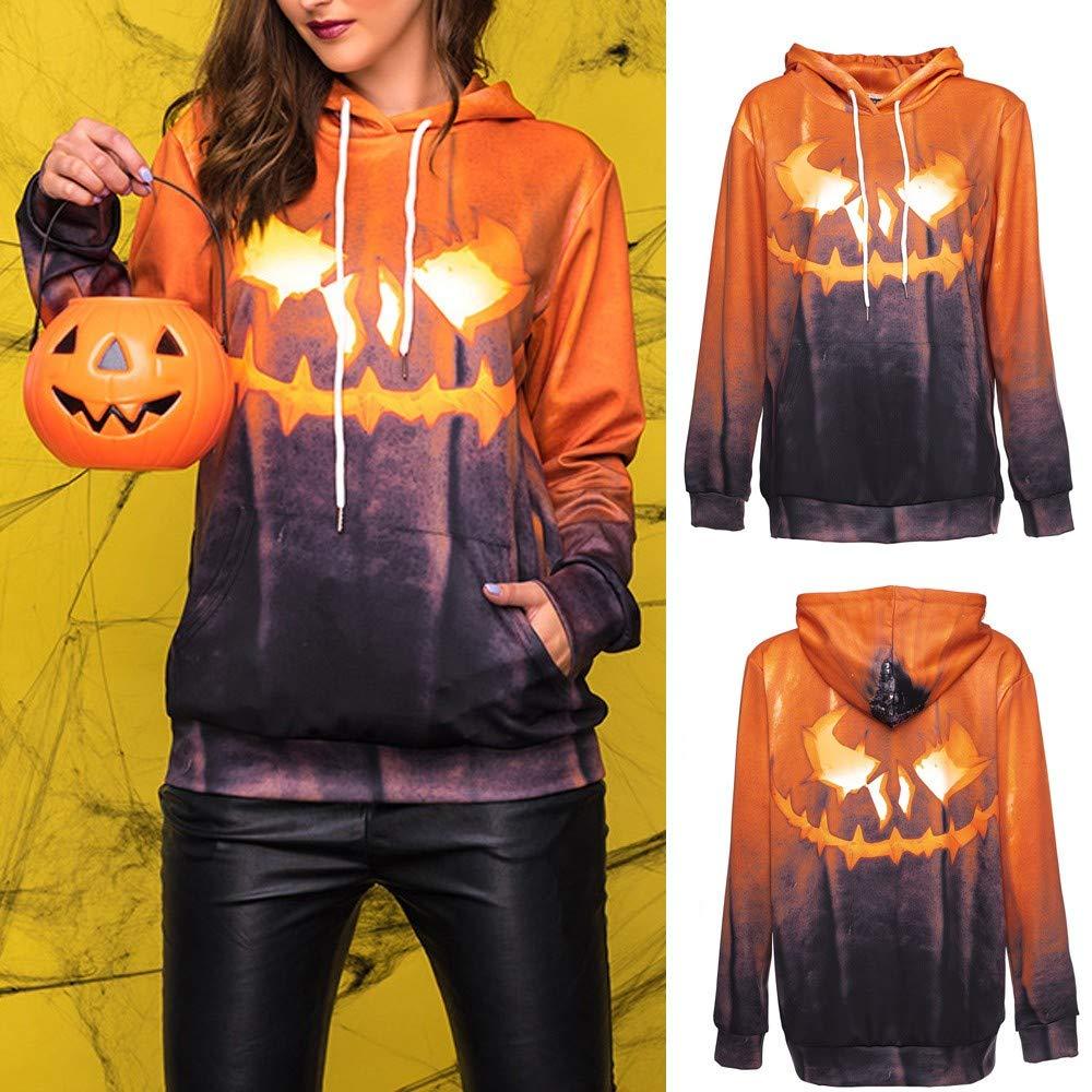 BOLUOYI Halloween Grimace Pumpkin Party Long Sleeve Pullover Blouse Sweatshirt 201974-sweatshirts