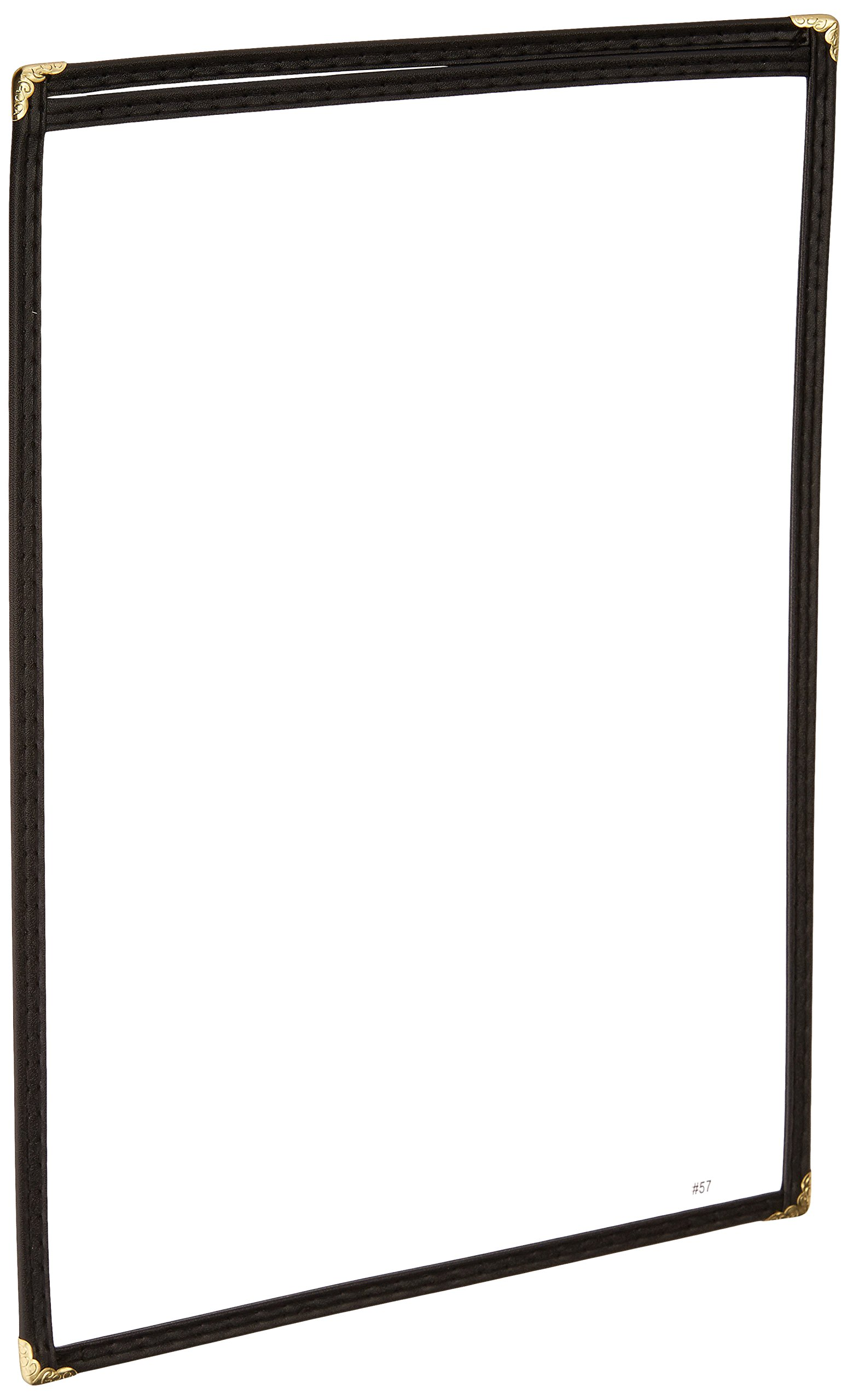 Winco Single Menu Cover, 14 by 8.5-Inch, Black