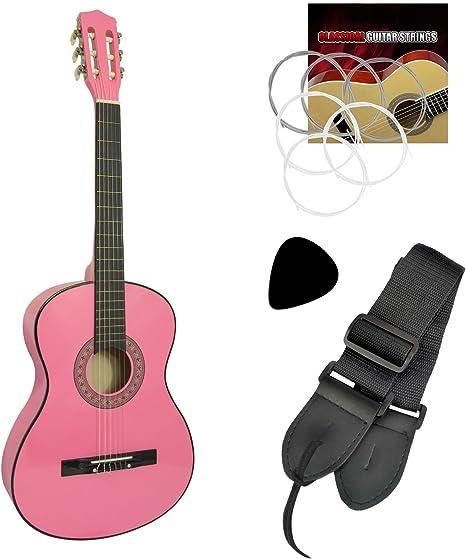 Jasmin - Guitarra clásica para principiantes, color rosa: Amazon ...