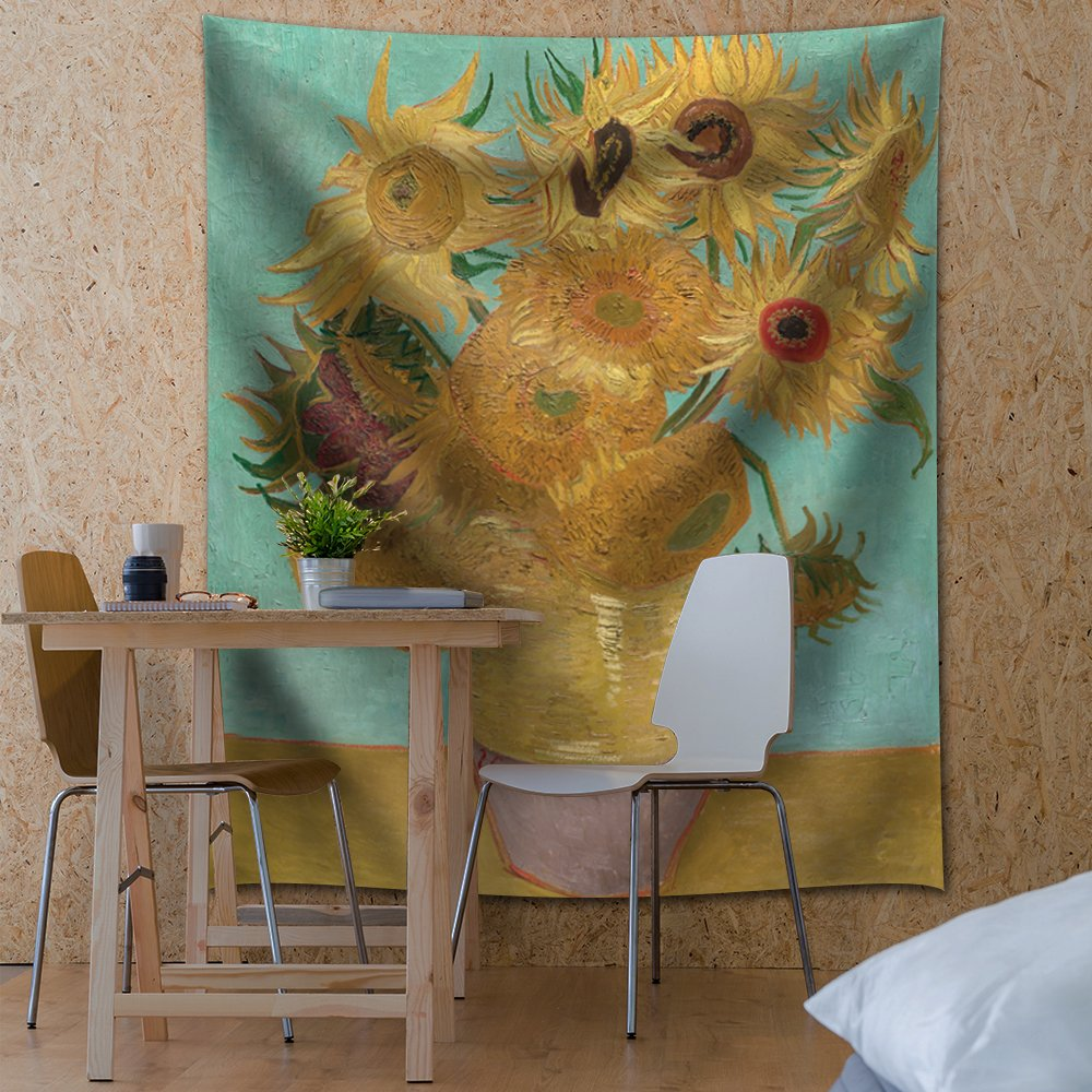 wall26 - ''Sunflowers by Vincent Van Gogh - Fabric Tapestry, Home Decor - 51x60 inches