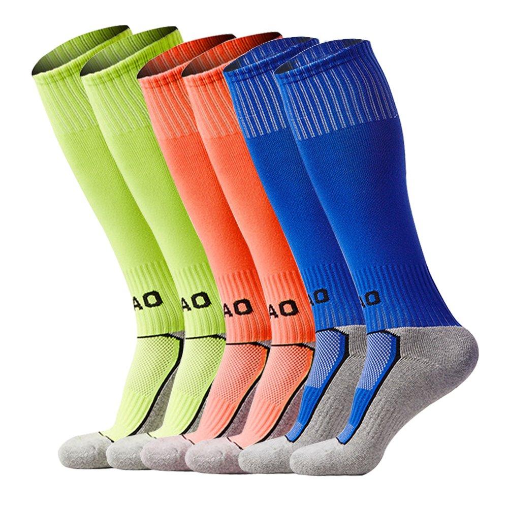 LITAO SOCKSHOSIERY ユニセックスキッズ B071L3QZCS Green&orange&blue Green&orange&blue