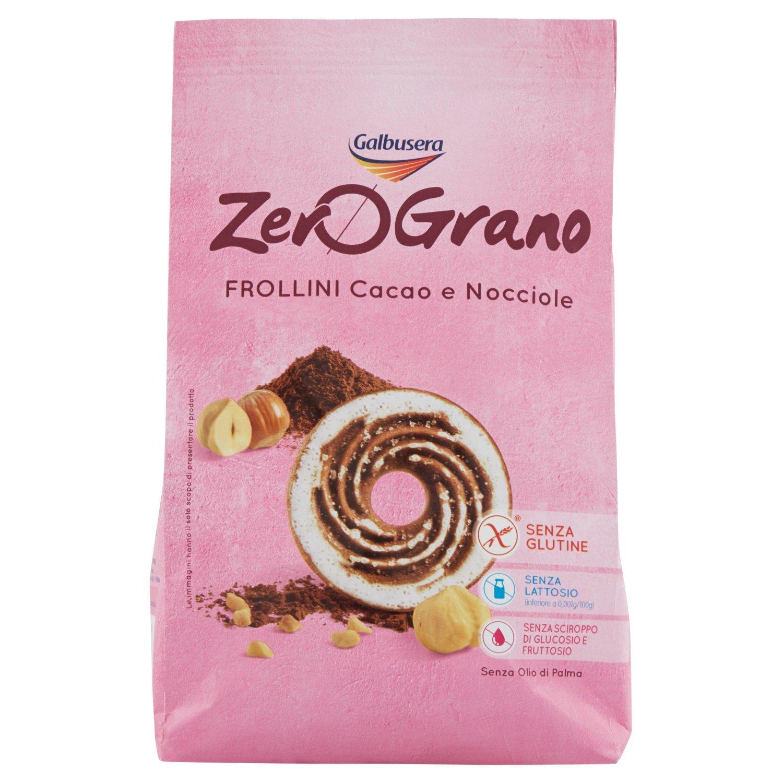 Galbusera Zerograno senza Glutine Frollino Cacao e Nocciole , 300 gr  Amazon.it Amazon Pantry