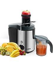 OZAVO Licuadora para Verduras y Frutas Acero Inoxidable Batidora Licuadoras Multifuncional Exprimidor y Extractor de Zumos, Jarra de 0.6 l, Libre de BPA, 500W, Motor de Dos Velocidades