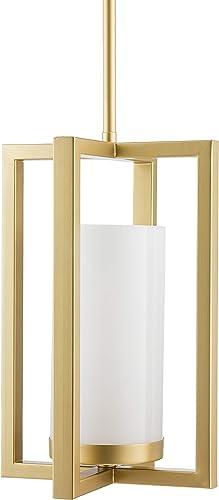 Verona Contemporary Intersecting Pendant Light – Satin Brass – Linea di Liara LL-P13-3SB