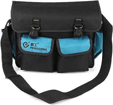 Werkzeugtasche schwarz mehrere Taschen Hardware Tasche Rolle Schraubenschlüssel