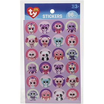 862de3a903a Amazon.com  Darice Beanie Boos Girl Stickers (96 Pack)