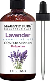 Majestic Pure Bulgarian Lavender Essential Oil, Therapeutic Grade, Authentic 100% Pure and Natural, 2 fl. oz.