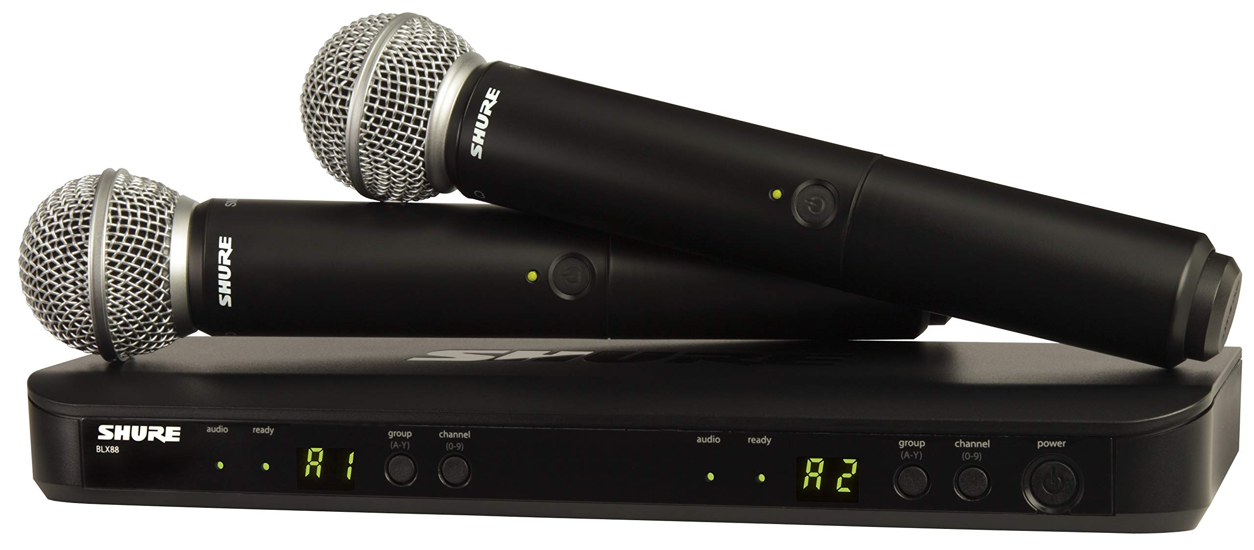 Shure Wireless Microphone System, Black (BLX288/SM58-H9) by Shure