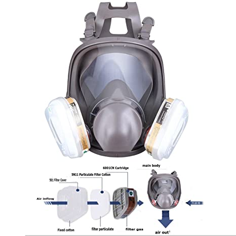 Cheap Price For 6800 Silicone Gas Mask Full Face Facepiece Respirator Painting Spraying Free Shipping Latest Technology Festive & Party Supplies