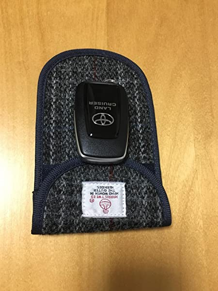AOKEOU-スマートキー-リレーアタック対策-携帯圏外ポーチ-ハリスツイード