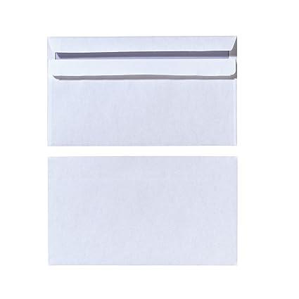 herlitz Briefumschlag DIN lang mit Fenster weiß selbstklebend 25 Briefumschläge