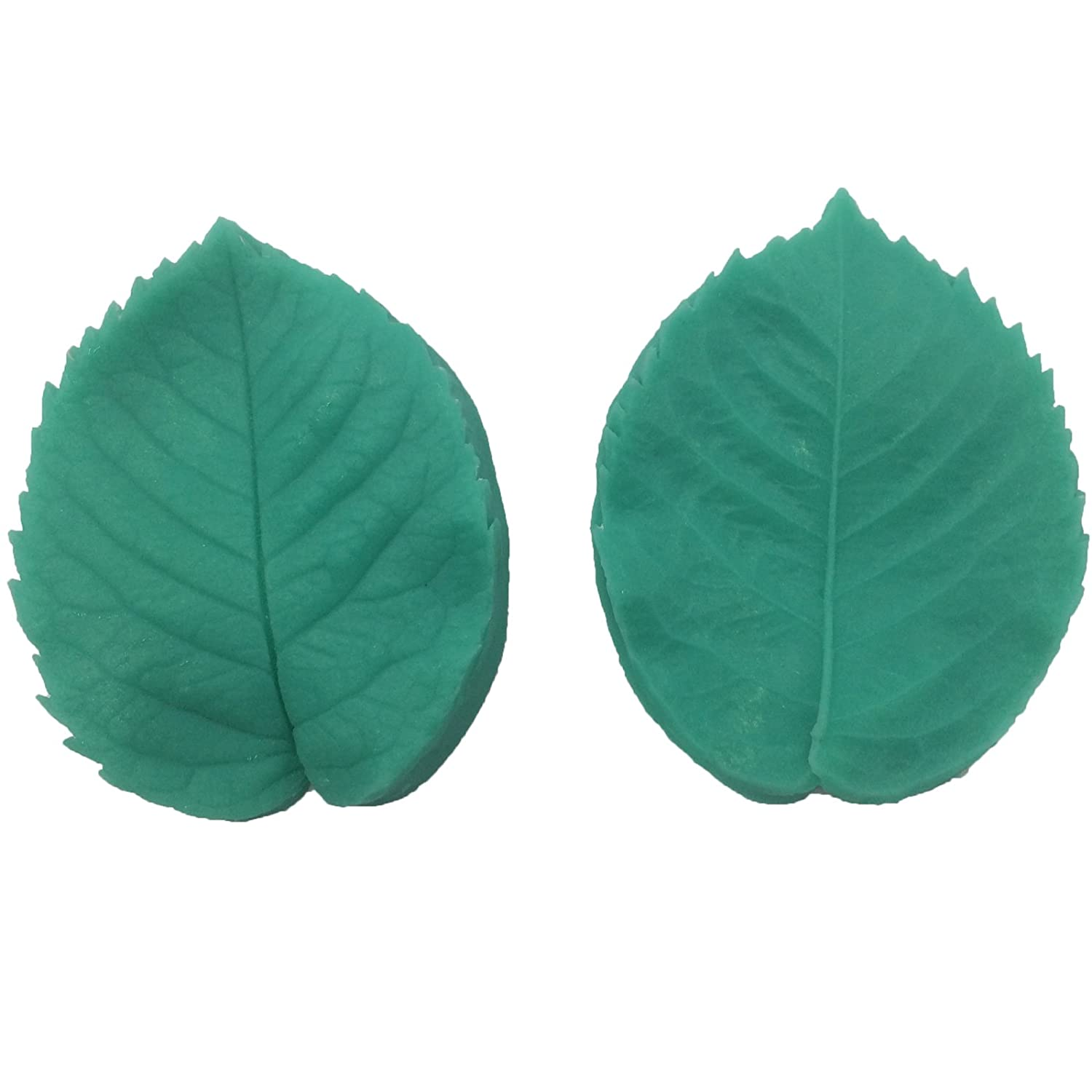 Sugarcraft Art All Purpose ROSE Flower vein foliage LEAF Double Veiner Fondant icing silicone icing leaves veiners mould, non stick Sugar paste, Butter, Resin, Polymer Clay, fimo, gum paste, PMC, Wax, Candle, Soap mold, 8*6.3cm thickness- around 1cm per le