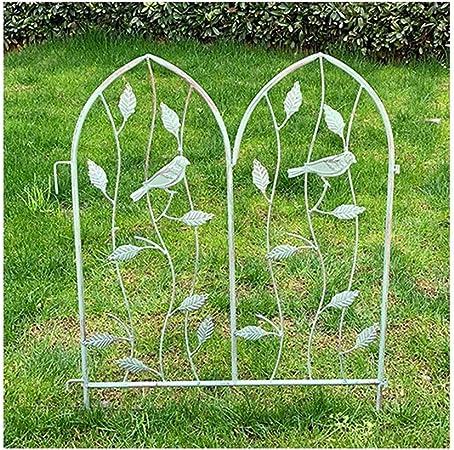 YINUO Cercos Jardín poste de la cerca del jardín del hierro pantalla poste de la cerca
