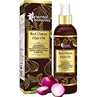 Oriental Botanics Red Onion Hair Oil, 200ml - With Argan Oil, Castor, Bhringraj, Almond, 30 Oils & Extracts - Repairs Damaged Hair (No Mineral Oil)