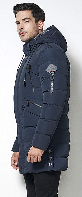 Itemnew Mens Premium Full-Zip Drawstring Fleece Hood Quilted Puffer Coat Windbreaker