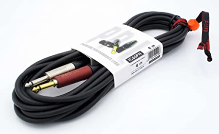 X-LEAD IC65PN060BK Serie PLATINUM, cable de instrumento de calidad para guitarra, bajo y teclados - Jack to Jack - Conectores NEUTRIK originales - (6 ...
