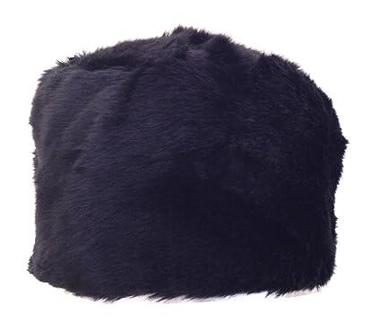 91a0e6ad Women's Classic Black Wolf Faux Fur Cossack Hat 58cm: Amazon.co.uk: Clothing