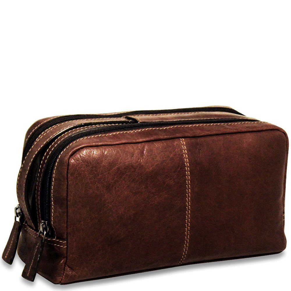 Jack Georges Voyager Collection Toiletry Bag in Brown by Jack Georges