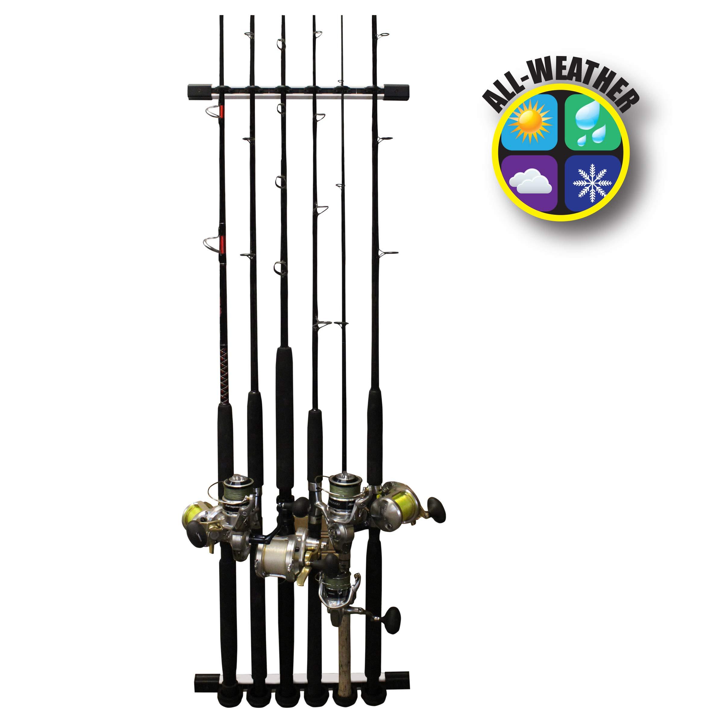 Rush Creek Creations 3 in 1 Fishing Rod/Pole Storage Wall/Ceiling Rack