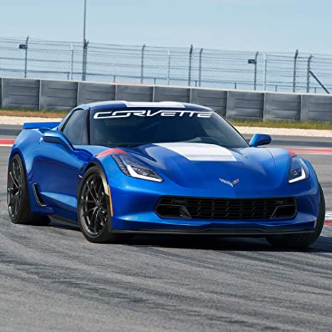 C7 Corvette Windshield Decal Kit (Corvette Script White)