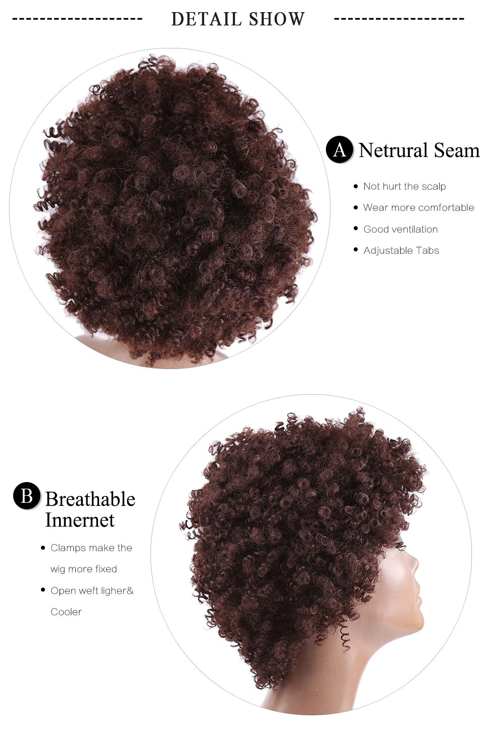 Amazon.com: Kinky Curly Afro Wig Synthetic Hair Short Wigs for Women and Men African Pelucas Sinteticas Cosplay (Brown): Beauty