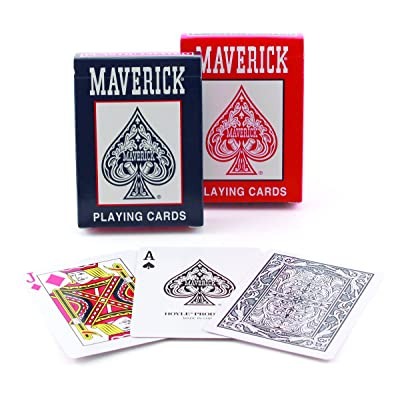 Maverick Standard Index Playing Cards, 1 CT (Colors May Vary): Sports & Outdoors