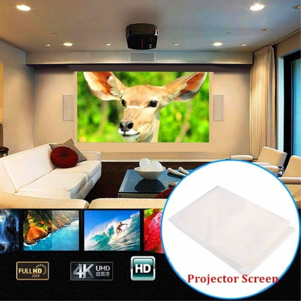 Foldable Projection Screen for 7000 Lumens 600D 1080P HD LED Multimedia Wifi 3D Video Home Theater Projector 74 inches
