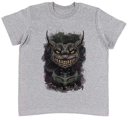 Jergley Cheshire Gato Unisexo Niños Gris Camiseta Niño Niña Tamaño ...
