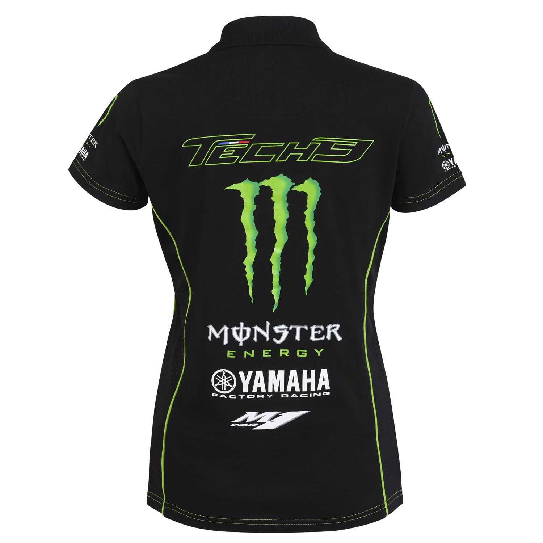 Monster Tech3 – 18t3 m-LP-l Polo para Mujer, Negro/Verde, FR: L ...