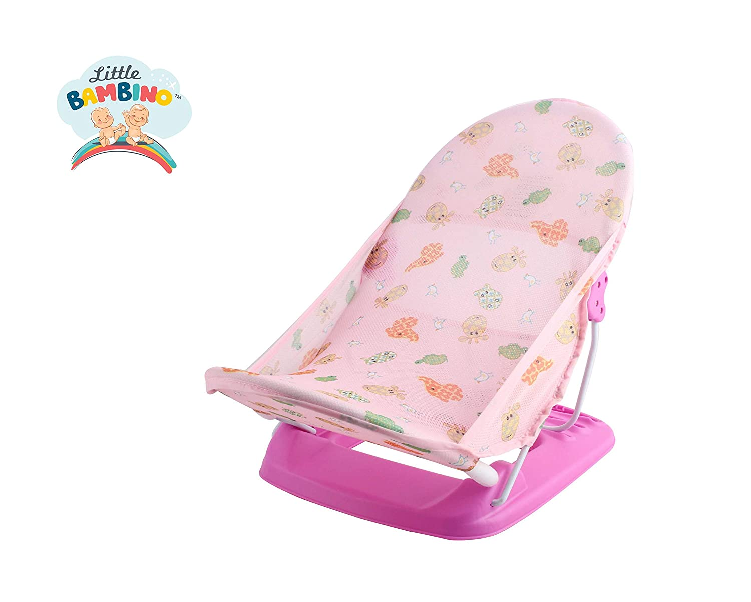 Little Bambino Bath Chair Pink Infant Deluxe Baby Bather Bath Chair