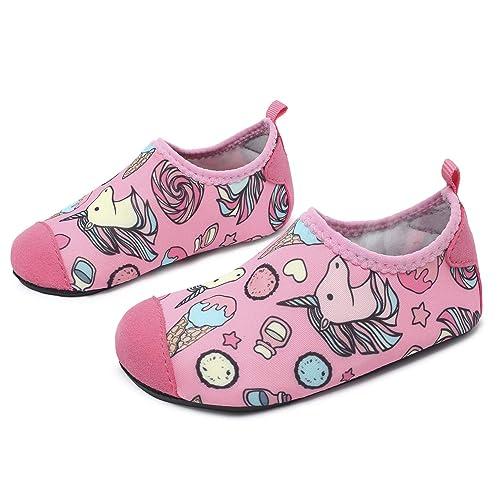 L-Run Kids Swim Water Shoes Calcetines Descalzos Aqua Socks para la Piscina de la Playa Surf Yoga