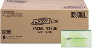 product image for Marcal(R) Fluff Out(R) 2-Ply Facial Tissues, Box Of 100, Case Of 30 Boxes