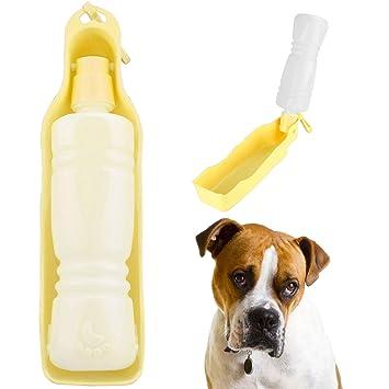 Dispensador portátil con botella de agua para que beba tu mascota, perro,