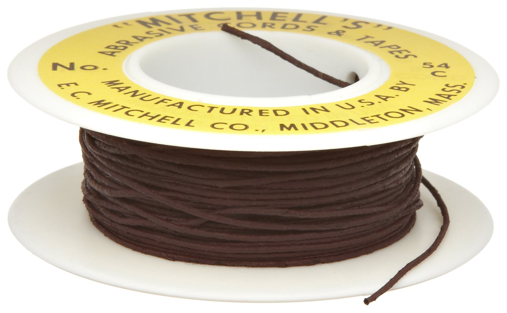 Mitchell Abrasives 54-C Round Crocus Polishing Cord, .030'' Diameter x 25 Feet