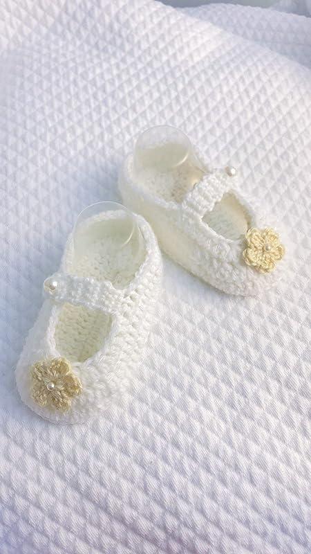 45 colori disponibili scarpe o babbucce morbide e calde neonata Scarpine neonata uncinetto ballerine bimba con fiore
