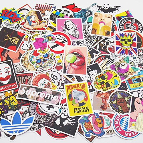 Vetroo Car Stickers Motorcycle Bicycle Luggage Laptop Decal Graffiti Patches Skateboard Bumper Stickers 100 PCS - Style B
